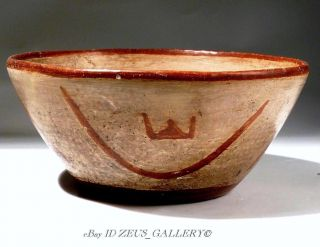 Pre Columbian Nayarit Pottery Bowl 100 Bc Red Painted & Resist Pattern Choice Xf photo