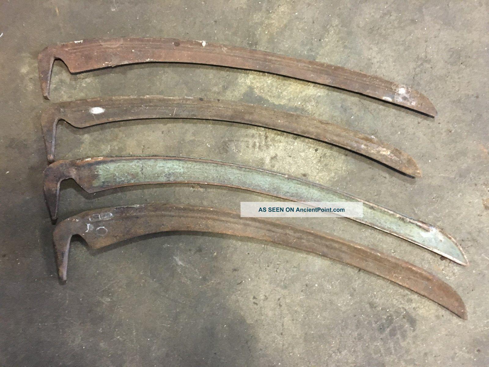 4 Lotantique Old Hand Sickle Scythe Blade Farm Tool Cutter