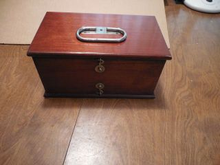 Antique Electropathy Quack Medical Device In Mahogany Case Complete photo