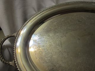 Large Wm Rogers Silverplate Serving Tray Platter 881 Large 24