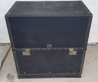 Vintage Auto Motor Luggage Simons Travel Trunk Central Trunk Factory 30x32x18