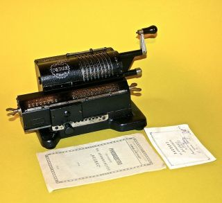 1926 Antique Russian Mechanical Calculator Arithmometer Feliks Ccetmas photo