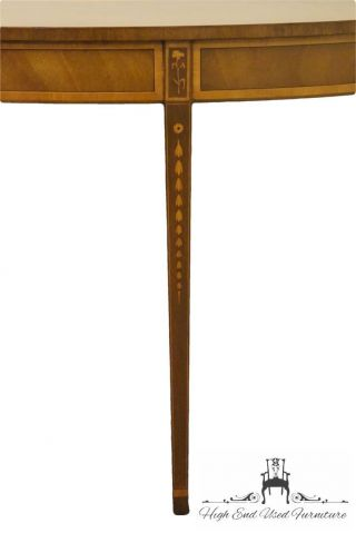 Kittinger 68″ Inlaid Bellflower Banded Mahogany Console / Sofa Table D1804 photo