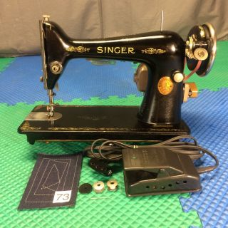Serviced Perfect Antique 1926 Singer 66 Heavy Duty Electric Sewing Machine photo