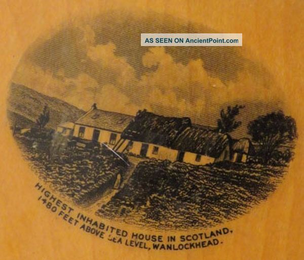 Antique Victorian Mauchline Ware Bellows Pincushion Highest House Scotland Exc Pin Cushions photo