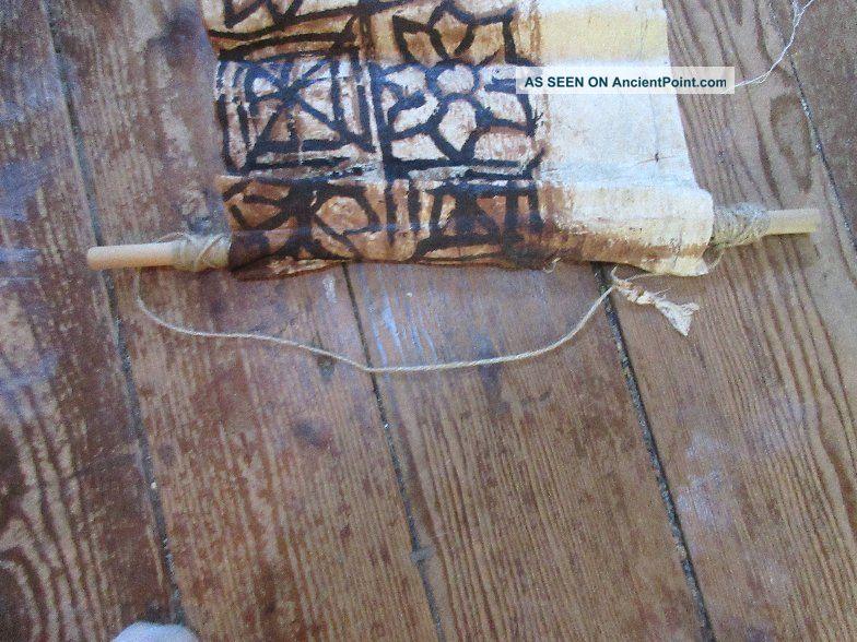 Traditional Tapa Bark Cloth Wall Hanging Vintage 56