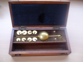 Sikes Hydrometer Mahogany Case photo