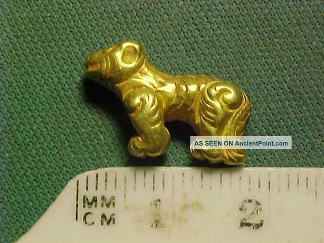 Sassanian Solid Gold Amulet Circa 224 - 642 Ad.  (quadruped) Near Eastern photo