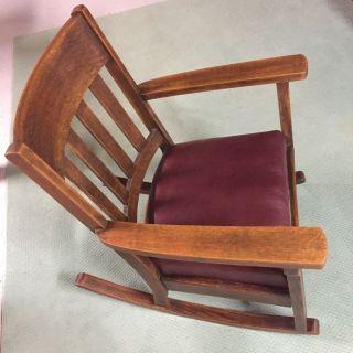 Vintage Mission Oak Arts & Crafts Farmhouse Rocking Chair photo