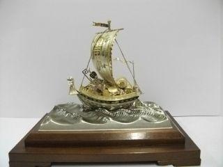 Silver985 The Japanese Treasure Ship.  205g/ 7.  22oz.  Takehiko ' S Work. photo
