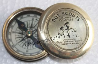 Marine Vintage Brass Poem Compass Nautical Boy Scouts Pocket Compass Gift Item. photo