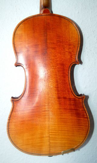 Antique Handmade German 4/4 Fullsize Violin - About 90 Years Old photo