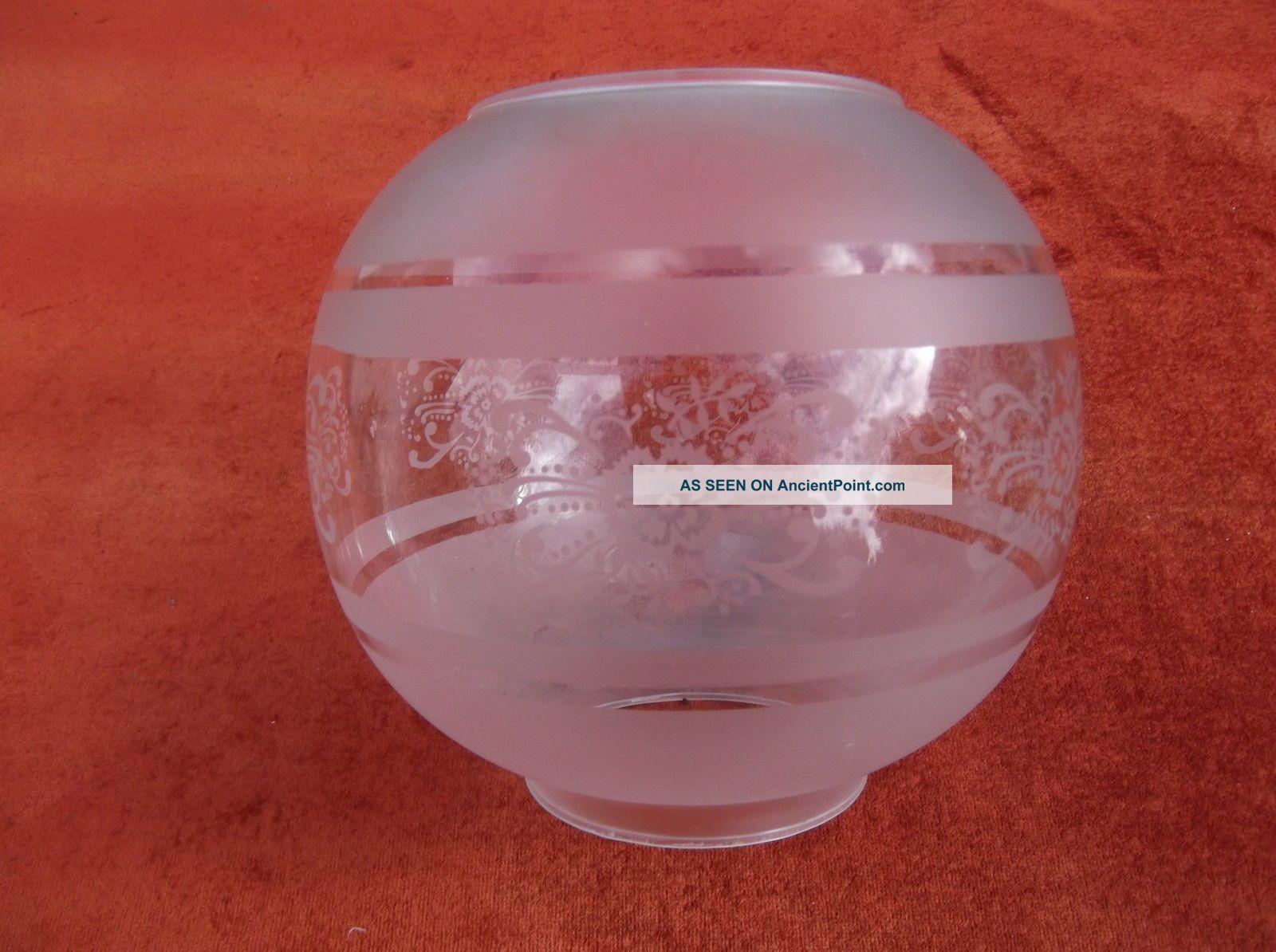 Vintage Oil Lamp Shade/duplex Twin Burner/paraffin Lantern/oil Burn Glass Shade 20th Century photo
