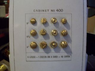 Antique Sample Button Cards,  Small French Jet,  Gold Metal Circa 1900 photo