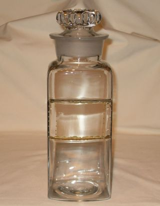 Antique Late 1800 ' S Fay & Schueler Clear Glass Apothecary Bottle/jar St Louis photo