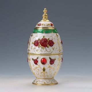 Chinese Cloisonne Hand Work Exquisite White Flower Toothpick Box D926 photo
