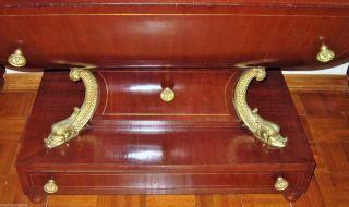 19c Antique Russian Empire Mahogany Gilt Bronze Mounted Secretaire Cabinet photo
