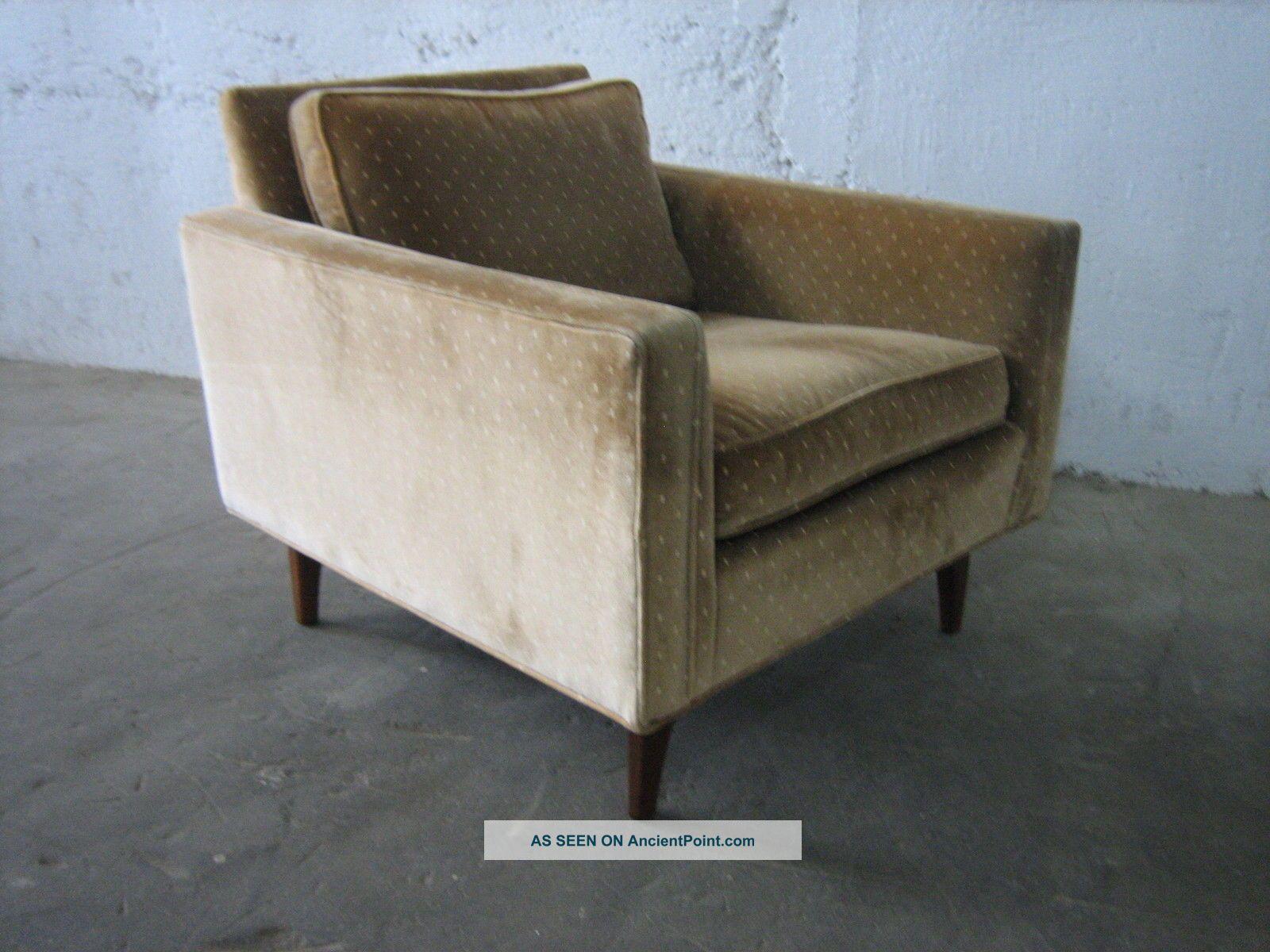 Vintage Milo Baughman Lounge Chair Thayer Coggin Label Teak Base Post-1950 photo