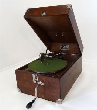 Antique 1922 Victor Victrola Vv - 50 Vintage Talking Machine Portable Phonograph photo