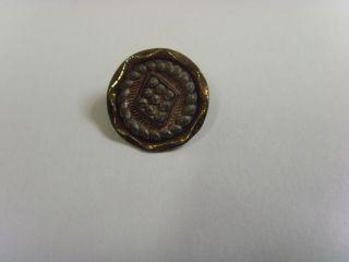 1800s Antique Victorian Metal Rare Five Part Shank Button 47834 photo