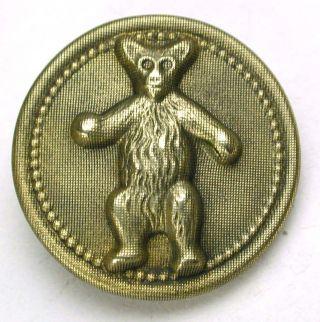 Antique Brass Button Teddy Bear Design - 7/8