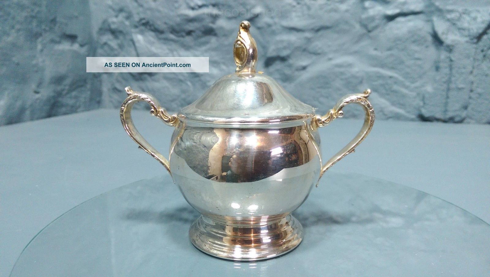 Vintage Viners Silver Plated Lidded Sugar Bowl Sheffield England (29) Sugar Bowls/Tongs photo