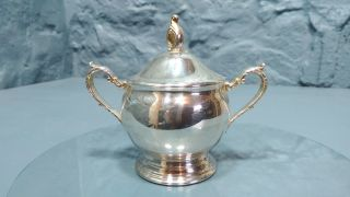 Vintage Viners Silver Plated Lidded Sugar Bowl Sheffield England (29) photo