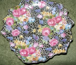 Made In Occupied Japan Chintz Leaf Dish photo