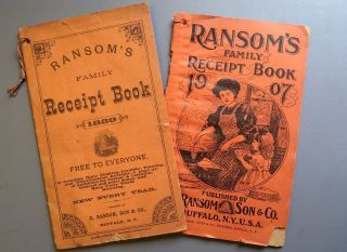 1889 Ransom Family Receipt Books Cookbooks Antidotes To Poisons Almanacs Quacks photo