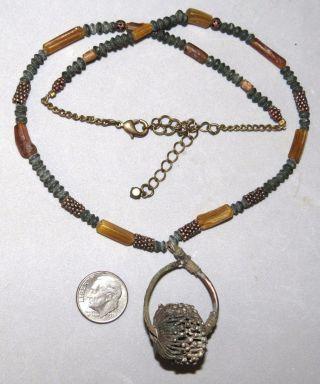 Ancient Viking Bead Granulated Metal 900 - 1100ad Roman Bead Strand Very Rare photo