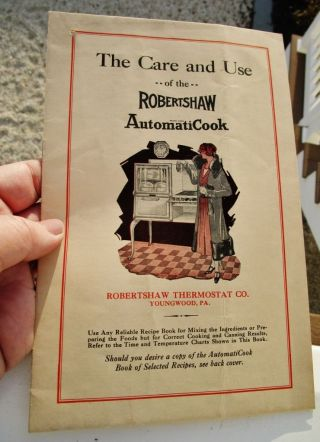 1920 ' S Robertshaw Thermostat,  Youngwood,  Pa - Automaticook Gas Stove Care & Use photo
