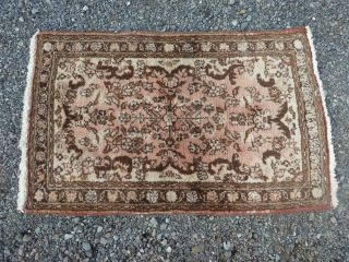 Antique Persian Hand Woven Wool Oriental Rug.  3 '.  3