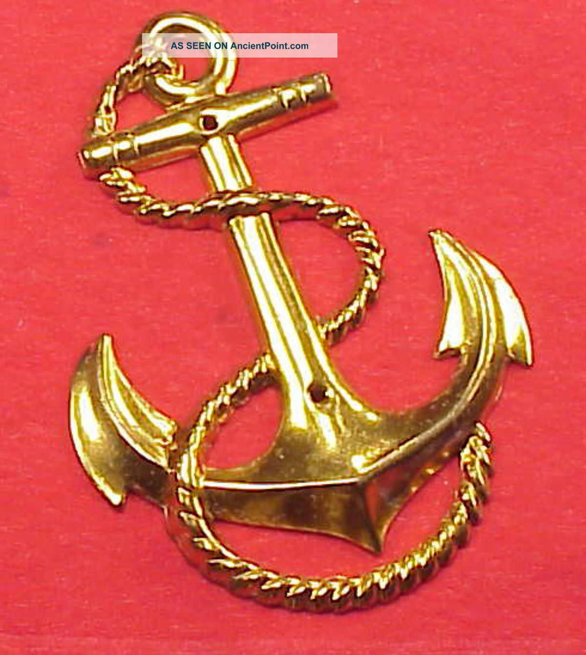 Vintage Brass Ship Anchor Rope 2 5/8 In Length Door Plate Hardware - Photo Album Anchors photo