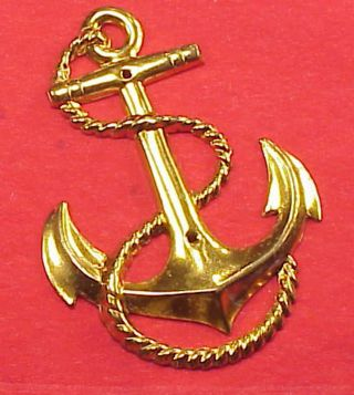Vintage Brass Ship Anchor Rope 2 5/8 In Length Door Plate Hardware - Photo Album photo