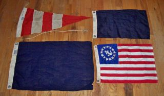 1950s Sterling Yachting Wool Signal Flags Answering,  More And Beauties photo