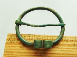 Authentic Ancient Medieval Artifact - Bronze Fibula (k242) photo