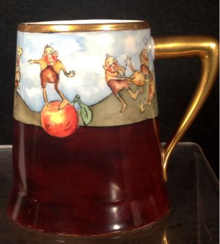 C1900 Palmer Cox Brownies Hand - Painted Limoges Mug/tankard photo