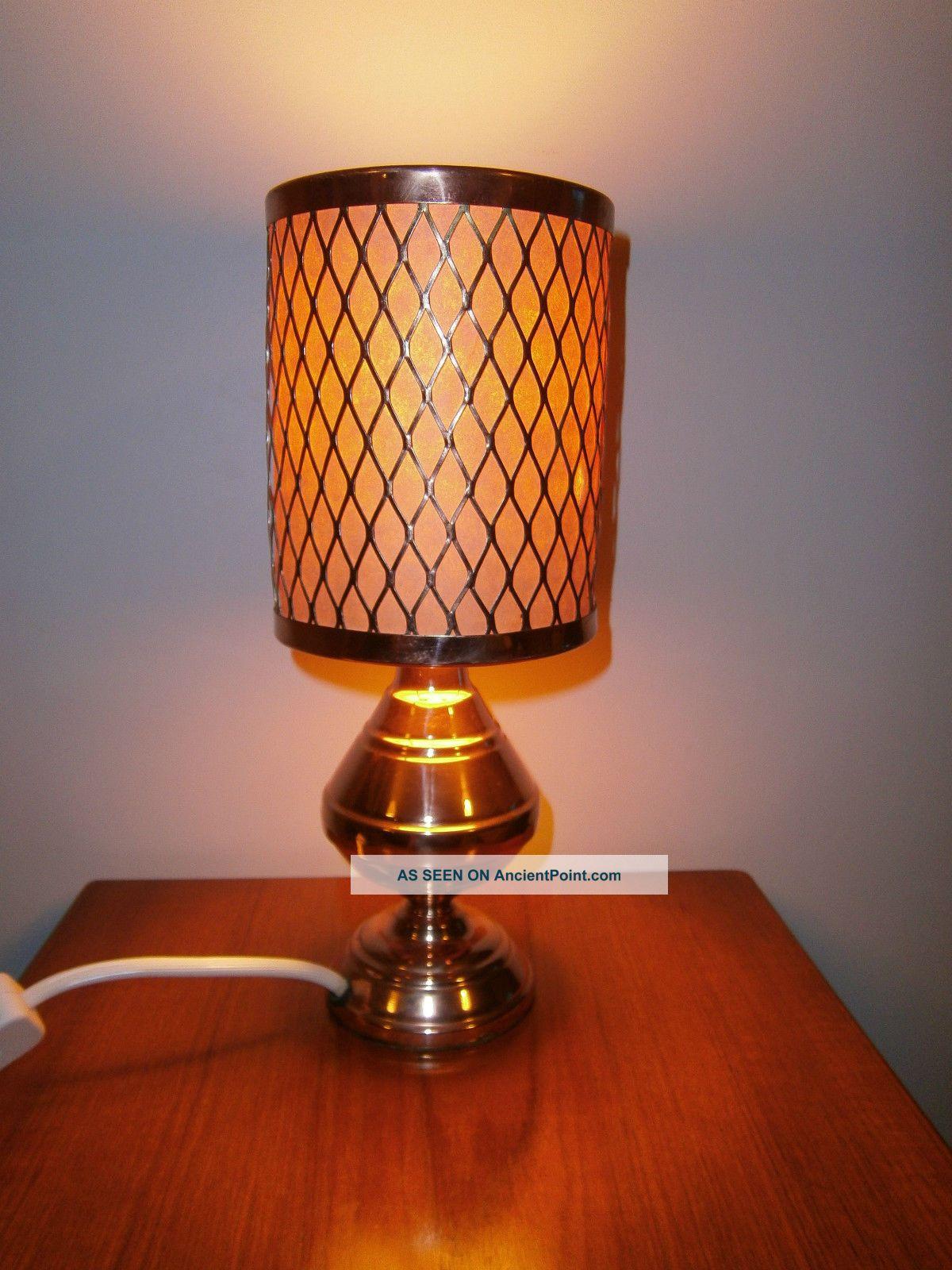 Vintage Copper Lamp - 70s Retro - P&p 20th Century photo