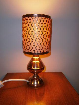 Vintage Copper Lamp - 70s Retro - P&p photo
