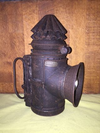 "Collectable Antique Victorian Police ""bullseye"" Dark Lantern Lamp - Jack Ripper photo"