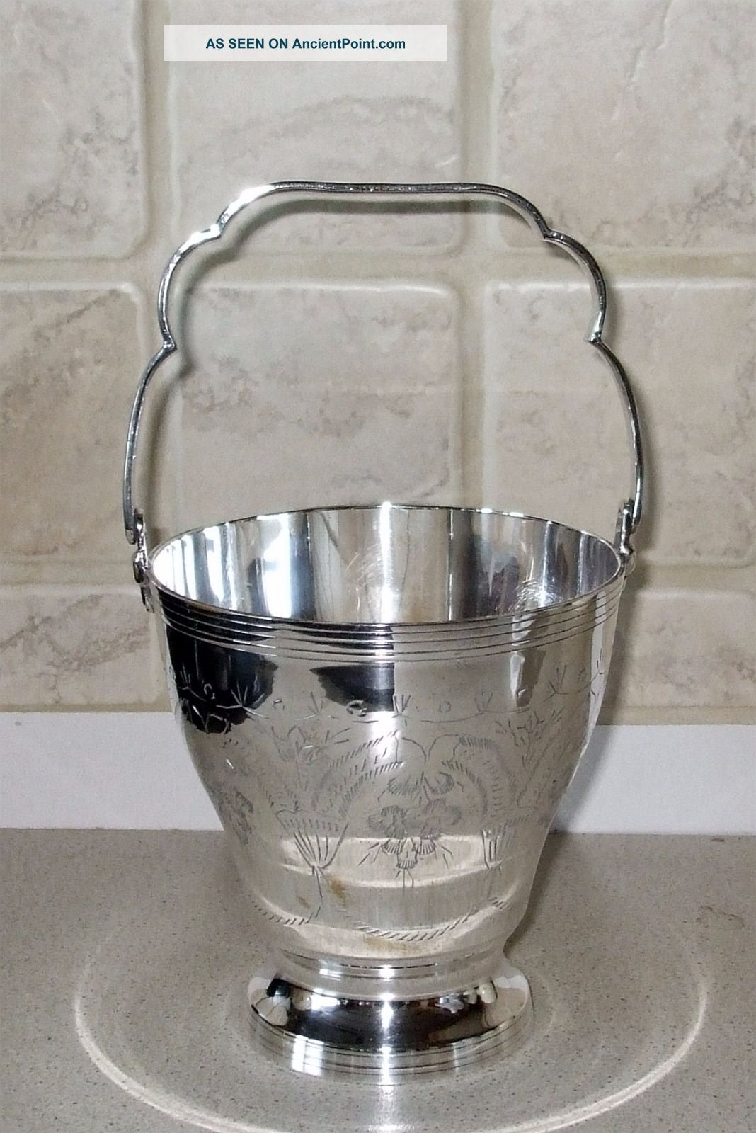 Antique Silver Plated Ice Bucket Other Antique Silverplate photo