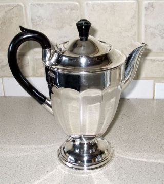 Stunning Silver Plated Footed Coffee Pot,  Sheffield photo