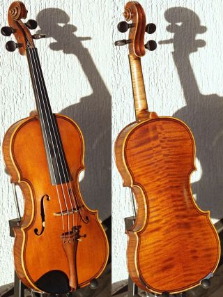 Fine Czech Antique Violin,  Maggini Model.  Build & Tone photo