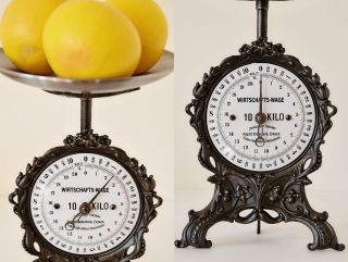 Vintage,  Old Style,  Antique,  Shabby Chic,  German Kitchen Scale From The Past photo