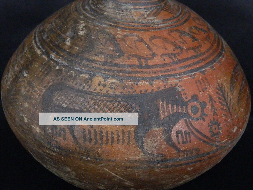 Ancient Huge Size Teracotta Painted Pot With Lions Indus Valley 2500 Bc Pt15428 Near Eastern photo