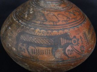 Ancient Huge Size Teracotta Painted Pot With Lions Indus Valley 2500 Bc Pt15428 photo