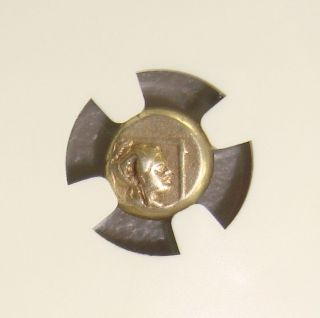 377 - 326 Bc Lesbos,  Mytilene Ancient Greek Electrum 1/6 Stater (hecte) Ngc F photo