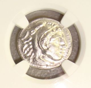 336 - 323 Bc Alexander Iii The Great Ancient Greek Silver Drachm Ngc Ch Xf 5/5 3/5 photo