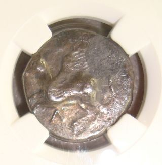 4th Century Bc Acarnania,  Leucas Ancient Greek Silver Stater Ngc Vf 3/5 2/5 photo