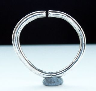 Rare Norse Silver Torc Ring photo
